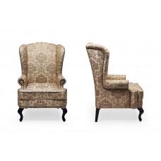 Английское кресло с ушами Adel173 молдинг бронза