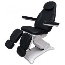 Педикюрное кресло Adel Black, 3 мотора, раздвижные подножки