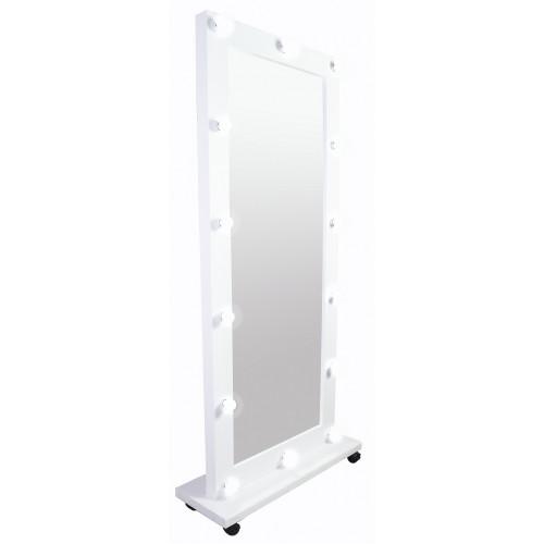 Зеркало стилиста, 180*80, подставка на колесиках, белое